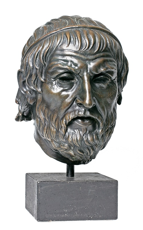 Sophokles Bronzeporträt klein